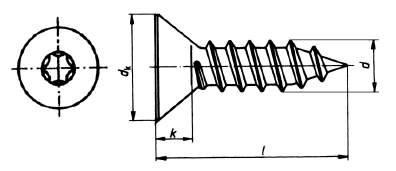 din 7982 senkblechschraube mit vollgewinde und torx antrieb edelstahl. Black Bedroom Furniture Sets. Home Design Ideas