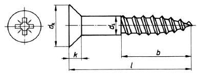din 7997 holzschraube senkkopf kreuzschlitz edelstahl a2 blank edelstahl. Black Bedroom Furniture Sets. Home Design Ideas