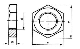 DIN 431 Rohrmutter Form B