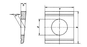 DIN 434 Keilscheibe für U-Träg.