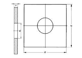 DIN 436 Vierkantscheibe f. Holz