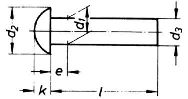 DIN 660 Halbrundniete
