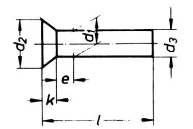 DIN 661 Senkniete