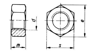 DIN 980 Sicherungsmutter Metall