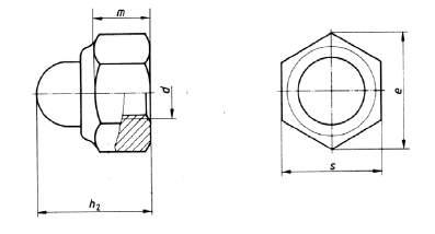 - DIN 986 V2A Hutmuttern - SC986 - M10 - selbstsichernd Edelstahl A2 5 St/ück SC-Normteile Sechskant-Hutmutter mit Klemmteil