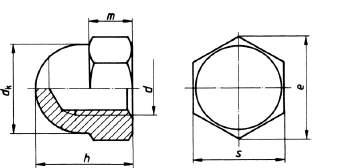 DIN 1587 Hutmutter hohe Form