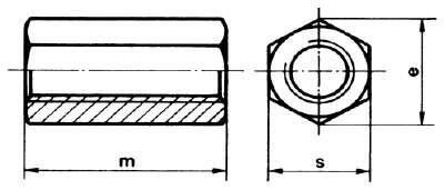 DIN 6334 Sechskantlangmutter