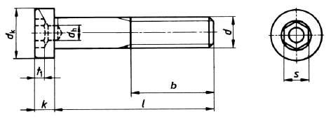 DIN 6912 Zylinderschrauben Imbus niedriger Kopf Schlüsselführung A4