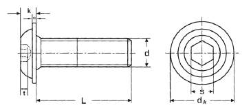 iso 7380 linsenkopf flansch edelstahl. Black Bedroom Furniture Sets. Home Design Ideas