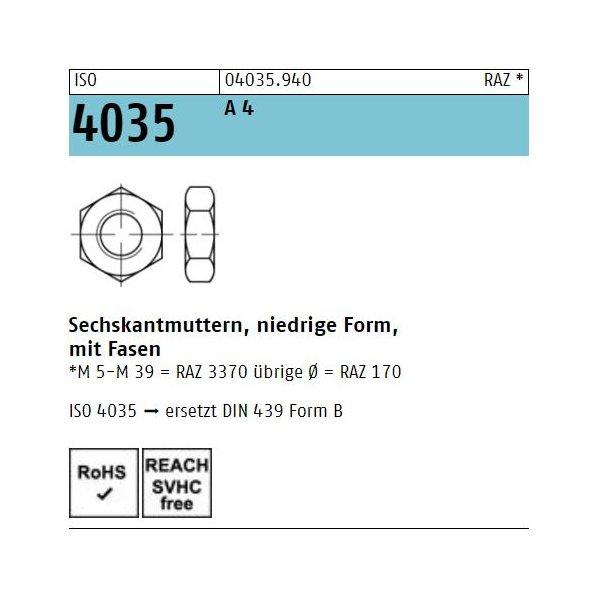 ISO 4035 A 4