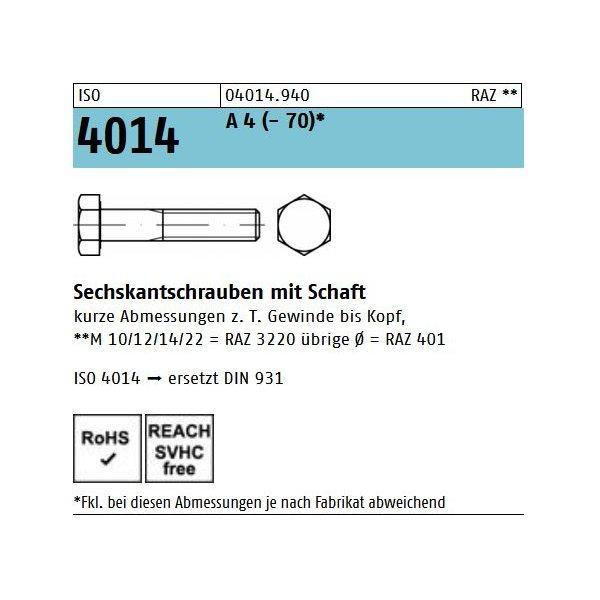ISO 4014 A 4 -70