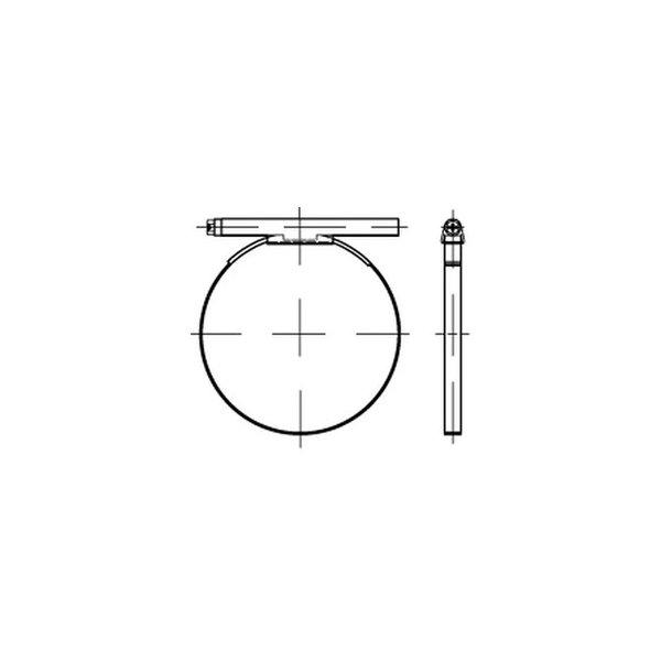 DIN 3017 A 8- 12/ 7,5 C6 -W2 galv. verzinkt, 1.4016 VE=S