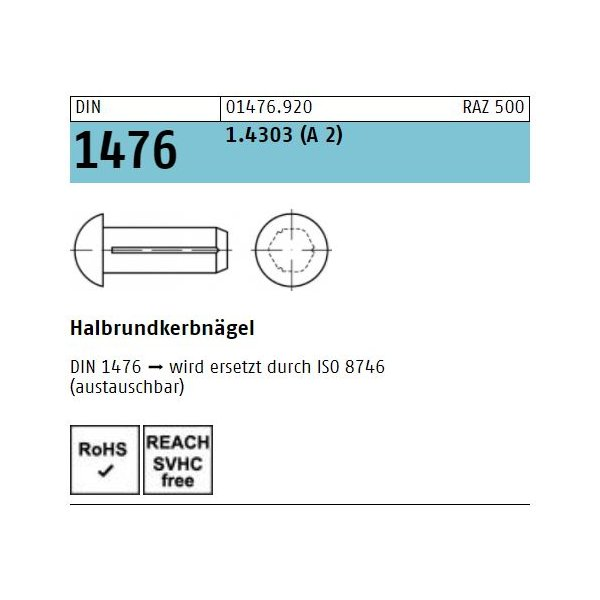 DIN 1476 1.4303 rostfrei A 2