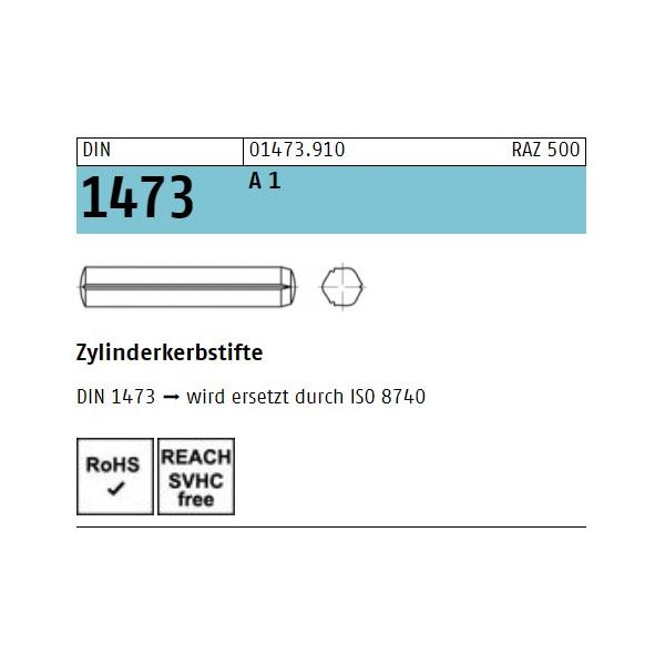 DIN 1473 1.4305  rostfrei A 1
