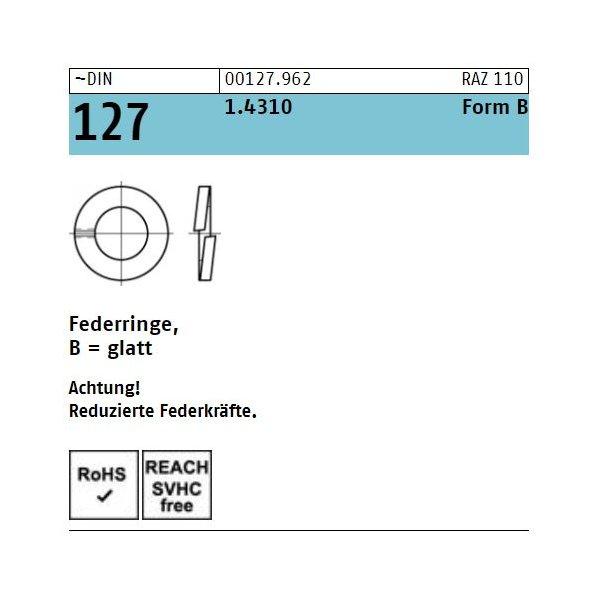 DIN 127 1.4310 B  rostfrei