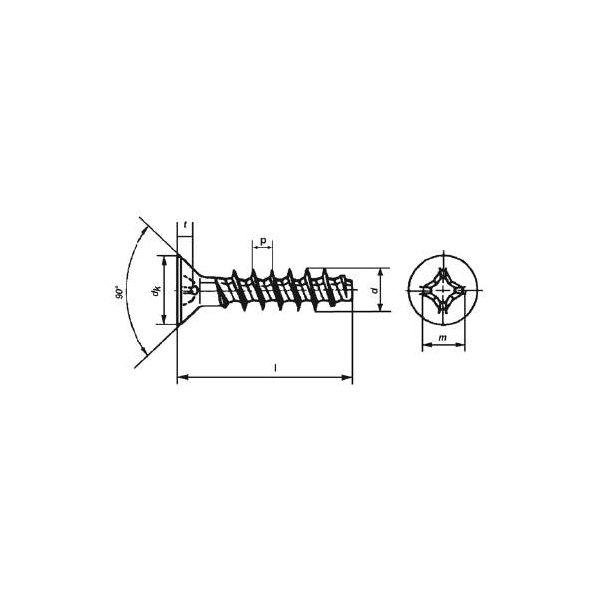Art. 9090 - TP Senkkopf für Kunststoffe A2